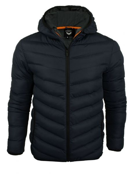 Fargo quality Hooded Puffer Jacket Navy Jacket